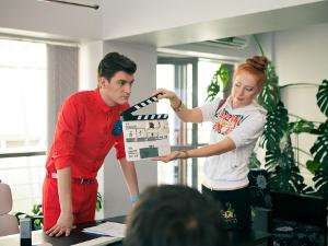 Александр Гудков на съемках фильма. Фото Евгения Черницкого