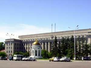 Здание правительства Иркутской области. Фото АС Байкал ТВ