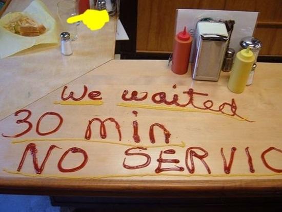 Жалоба на работу ресторана