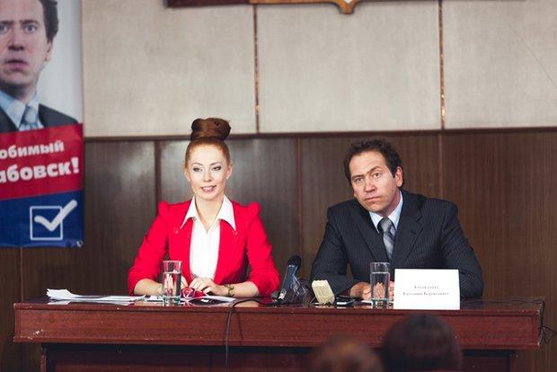 На съемочной площадке фильма «Похабовск. Обратная сторона Сибири». Фото Ивана Пушкарева