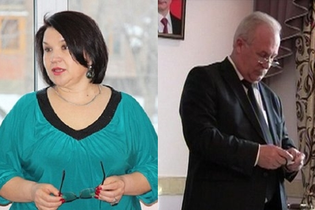 Светлана Кажаева и Владимир Жуков. Фото администрации АМО и «Вести-Иркутск»