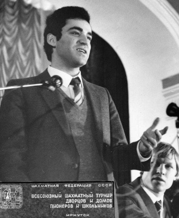 Гарри Каспаров на шахматном турнире в Иркутске.  Фото с сайта www.ddut-irk.ru