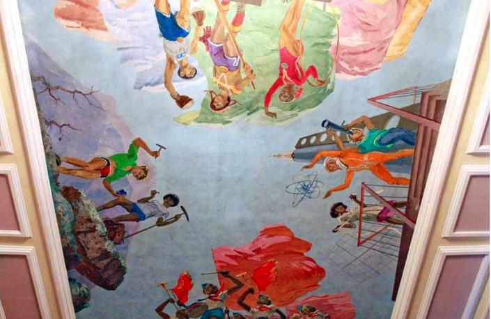 Роспись потолков во Дворце пионеров. Фото с сайта www.ddut-irk.ru