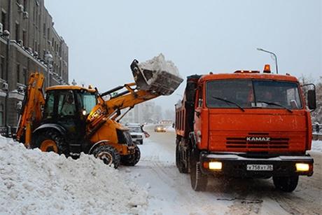 Уборка улиц Иркутска. Фото пресс-службы администрации Иркутска