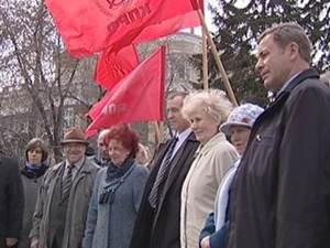 На митинге коммунистов. Фото из архива АС Байкал ТВ