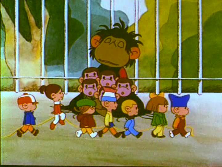 Кадр из мультфильма «Осторожно, обезьянки!»