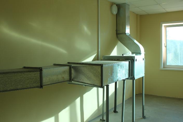 Система вентиляции в новом здании