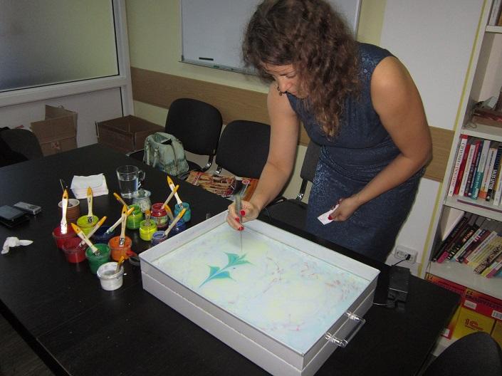 Процесс рисования. Фото автора
