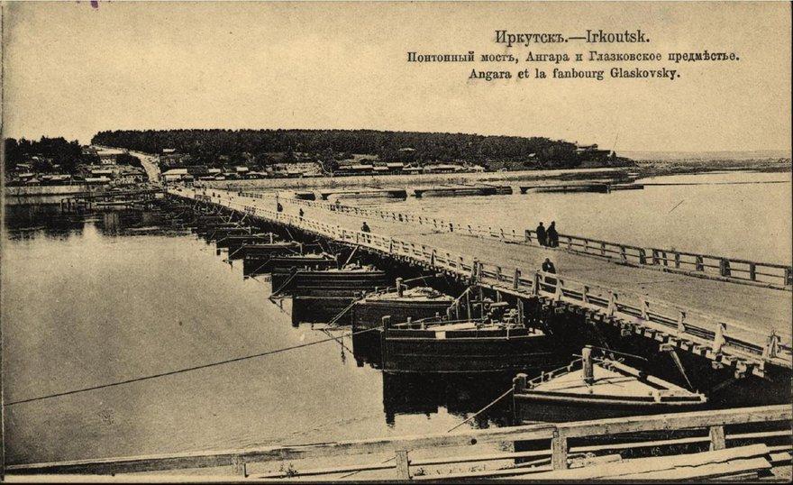 Понтонный мост, построенный на часть трапезниковского капитала, что было, по мнению В.П. Сукачева, недопустимо.