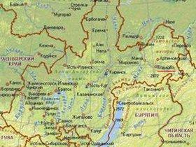 Иркутская область и Бурятия на карте. Изображение с сайта www.bodaibogold.ru