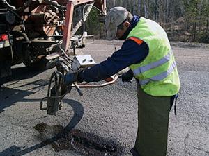 Дорожные работы. Фото с сайта www.irkutskdor.ru