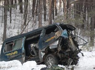 На месте аварии. Фото с сайта www.irk.kp.ru