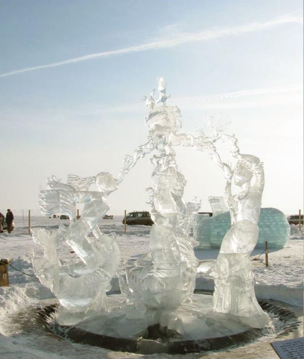 Листвянка ледяной городок фото
