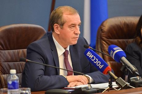 Сергей Левченко на пресс-конференции. Автор фото — Илья Татарников