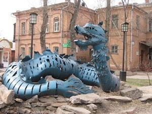 Скульптура дракона. Яндекс.Фотки