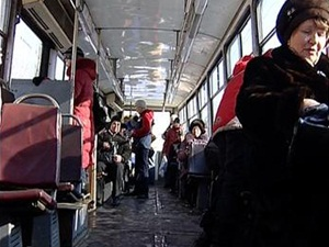 В иркутском трамвае. Фото АС Байкал ТВ