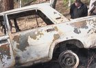 Сгоревший автомобиль. Фото АС Байкал ТВ