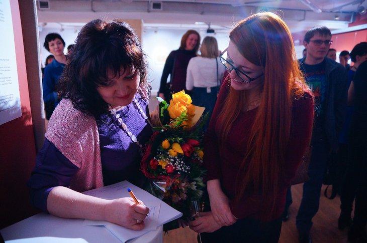 На открытии выставки «Графика весны». Автор фото — Мария Быцко