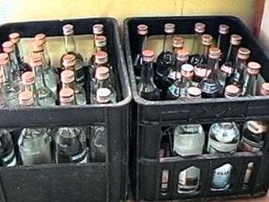 Контрафактная алкогольная продукция. Фото из архива НТС.