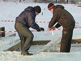 Иордань у храма Михаила Архангела в Ново-Ленино. Фото с сайта АС Байкал ТВ.