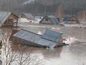 Паводок в Иркутской области. Фото с сайта www.mchs.gov.ru.