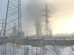 Пожар за заводе «Суал-ПМ». Фото НТС.