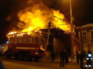 Пожар на улице Седова, Иркутск. Фото Татьяны Екатерининой.