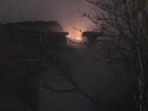 Пожар на улице Седова, Иркутск. Фото с сайта Вести-Иркутск.