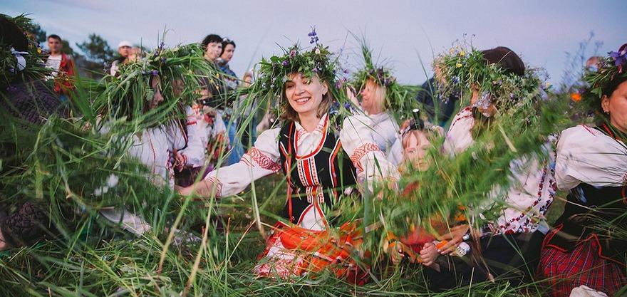 На празднике «Купальская ночь». Фото Ольги Виноградовой