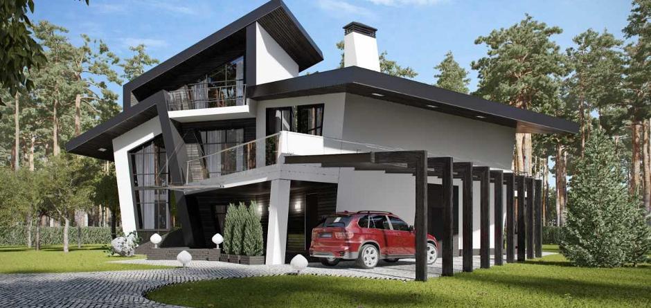 Архитектурный проект дома. Фото с сайта line8.ru