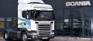 Первый в Иркутской области лесовоз Scania на метане