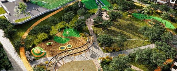 Жилой концепт-парк «Семья»: пять зон для спорта и отдыха