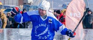 Спорт во имя экологии. Легенды русского хоккея провели матч на льду Байкала