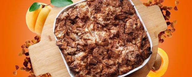 Сливочный хлебный пудинг за 10 минут