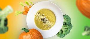 Овощной крем-суп со сливочным сыром
