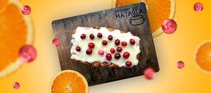 Элементарный кекс с апельсином и клюквой