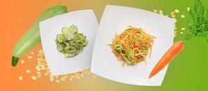 Готовит Наташа: быстрые салаты с цуккини и огурцами