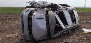 Обзор ДТП: Toyota улетела с трассы