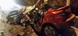 Обзор ДТП: смятая «Мазда» и шесть погибших