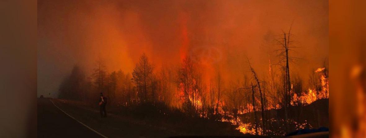 Лесной пожар под Братском. Фото из группы «Удивительный Братск»