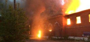 Пожар в ИВВАИУ: семь часов в огне