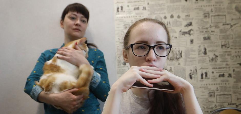 Юля и Вика. Автор фото — Алексей Головщиков