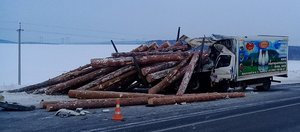 Обзор ДТП: неделя страшных аварий с лесовозами