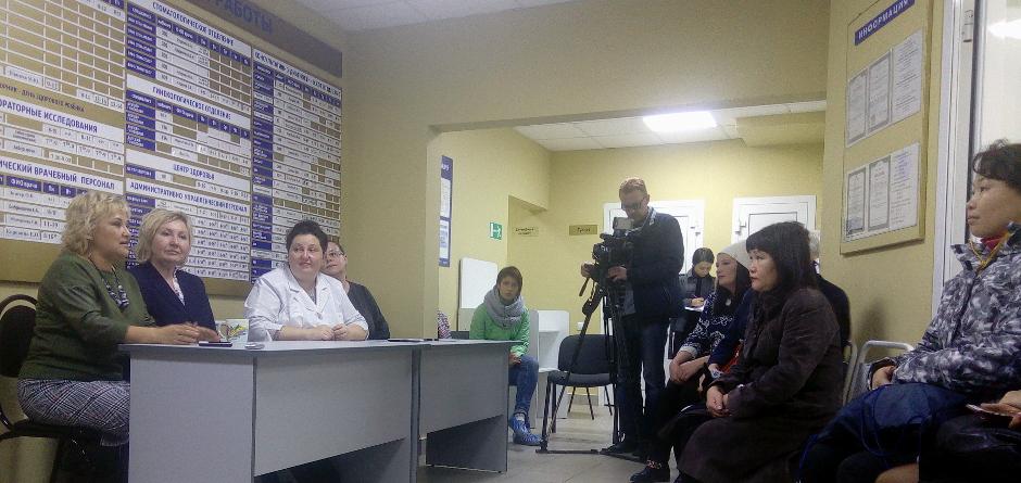 На встрече с жителями Союза. Фото Алины Вовчек