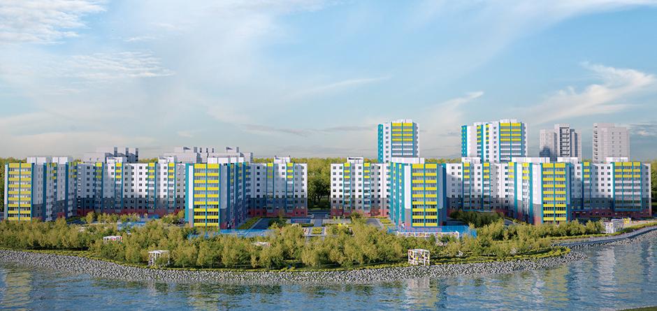 Проект микрорайона. Изображение предоставлено АО «УКС города Иркутска»