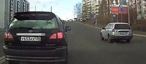Автохам: очень быстрое наказание и вся семья на дороге