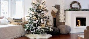 Новогодний декор: стремянка вместо ёлки и сушёные апельсины