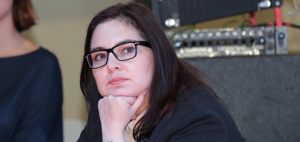 Ирина Алашкевич на фестивале «Байкальская пресса». Фото irkobl.ru