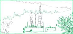 Инфографика об Иркутской нефтяной компании.