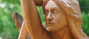 Деревянное «Лукоморье» на Байкале